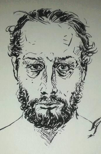 joel self portrait in ink